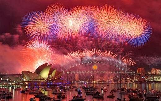 Happy New Year 2014 Countdown Sydney, Australia