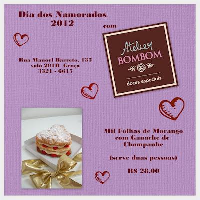 Sugestão de presente para o Dia dos Namorados 2012: Mil Folhas de Morango com Ganache de Champanhe do Atelier Bombom