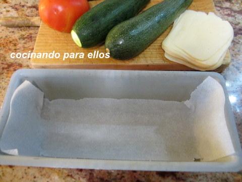 Cocinando para ellos pastel salado de calabacin y tomate - Cocinando para ellos ...