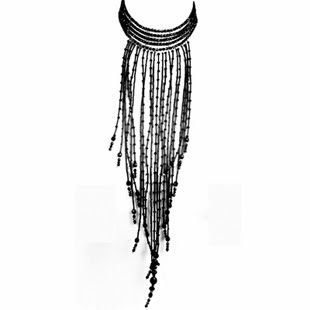 Statement necklace, black necklace, Elisha Francis Jewellery, Elisha Francis London,