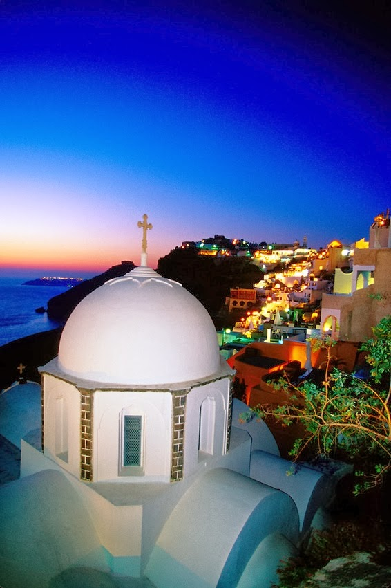 Night in Santorini