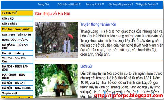 Đồ án tốt nghiệp Mã nguồn Website giới thiệu du lịch bằng PHP