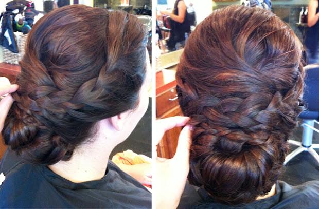 hair and make- steph