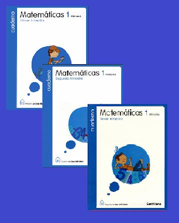 Cuaderno de Matemáticas. Editorial Santillana. 1º de Primaria.