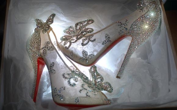 Os Sapatos da Cinderela por  Christian Louboutin