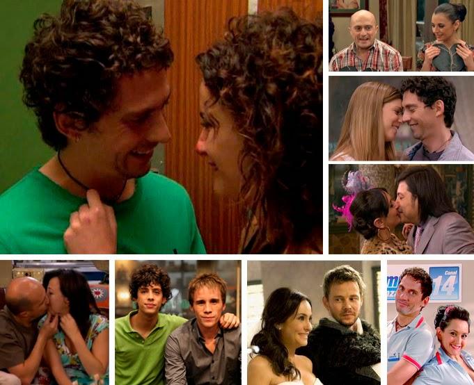 Soraya y Chema, Macu y Machu Pichu, Melanie Olivares y Paco León, Paz y Luisma, novios, parejas televisivas, telecinco