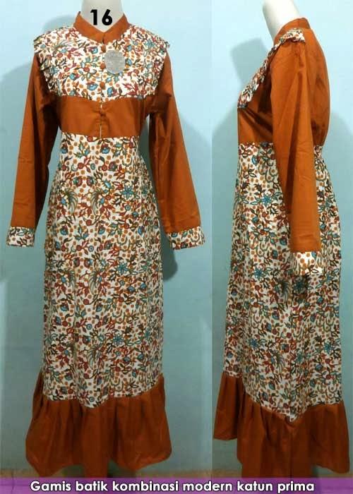 Model Baju Batik Muslim Kombinasi 2014 Informasi Terkini