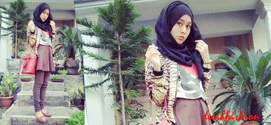 Jilbab Modis Sehari-Hari Kasual Hijab Style