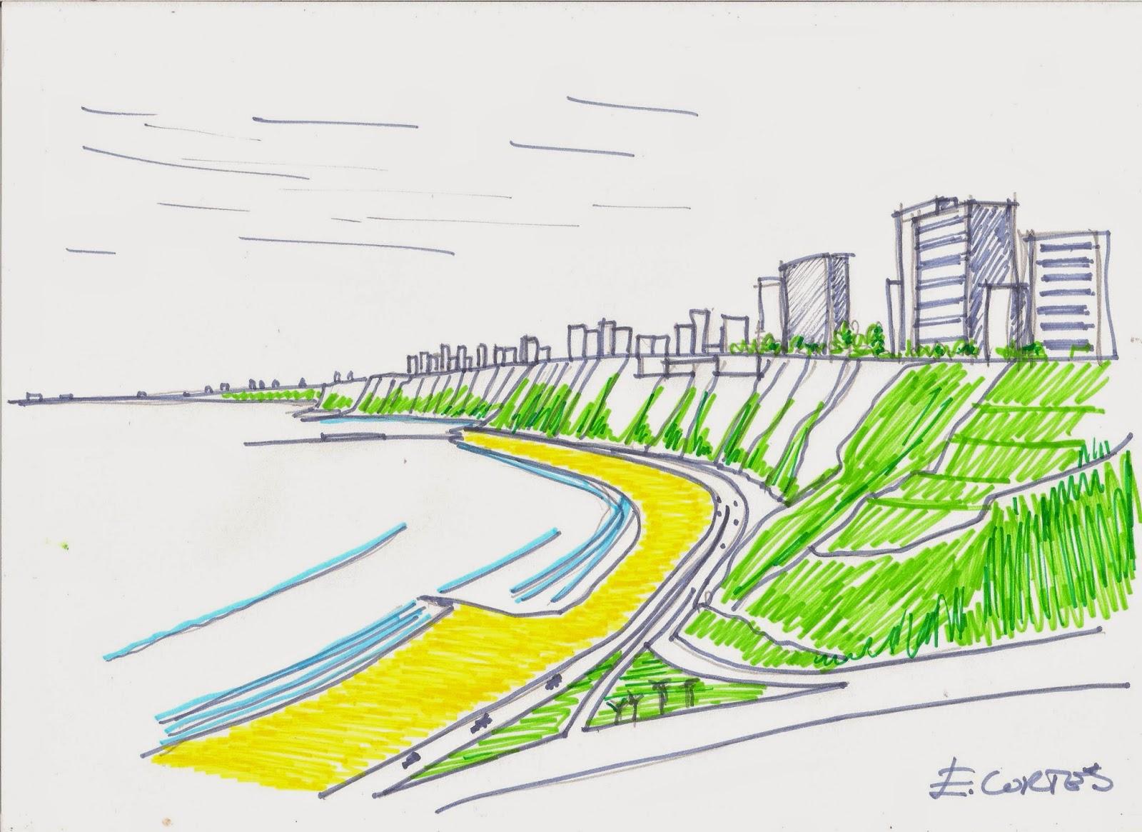 Composicion Urbana La Costa Verde Barrera Urbana o Espacio