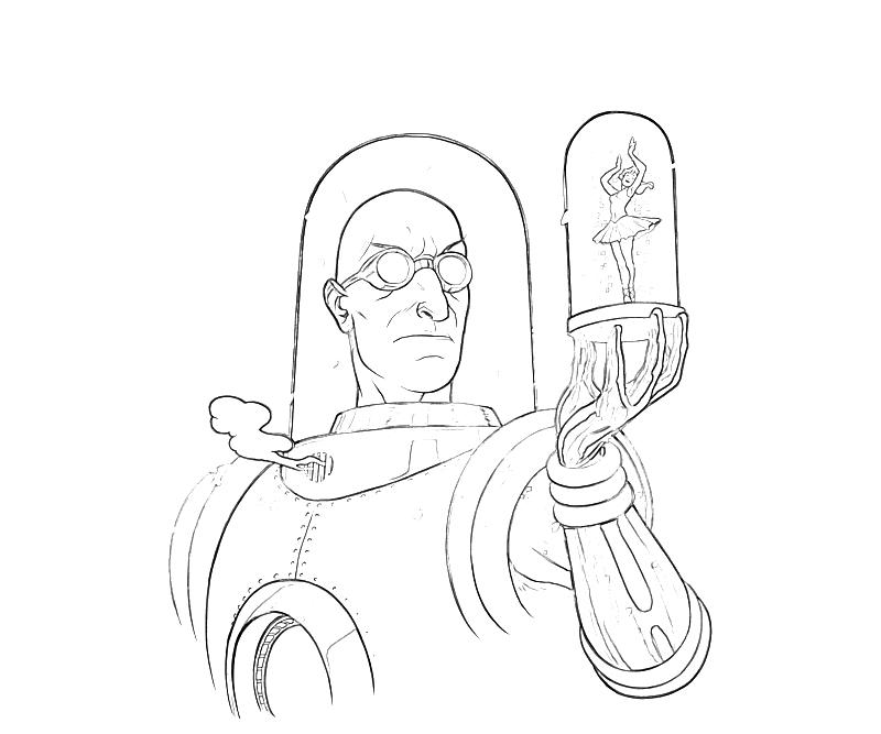 Batman Arkham City Mr Freeze Look Coloring Pages