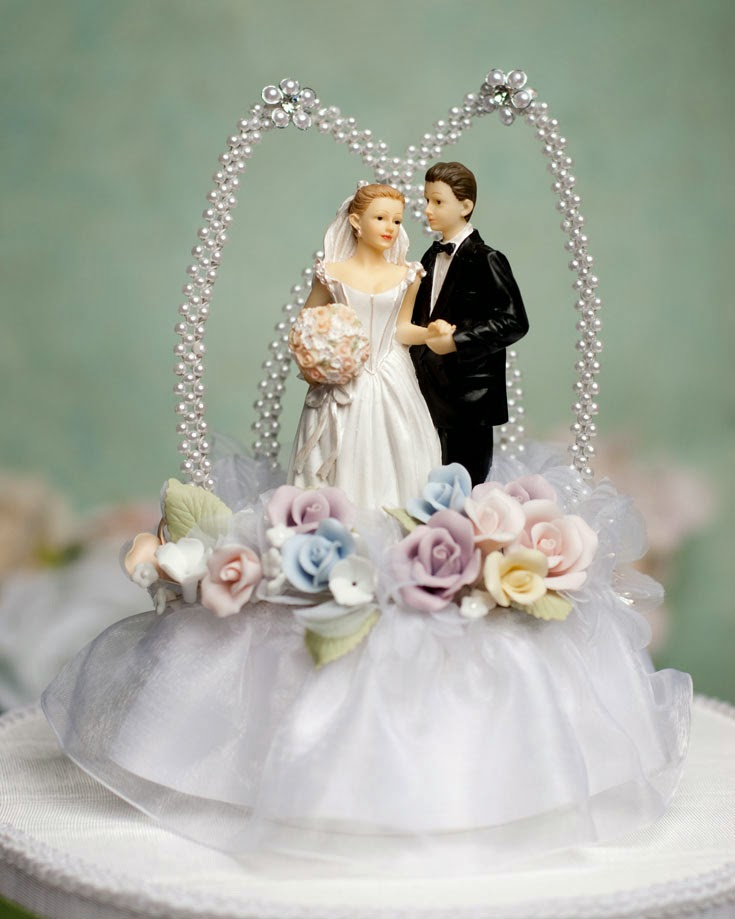 Elegant Wedding Cake Toppers Bride And Groom