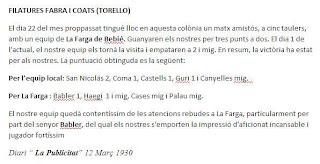 Recorte de prensa en La Publicidad de marzo de 1930 sobre La Farga de Bebié y Juan Babler