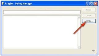 Menggunakan Fragext untuk Defrag file windows anda secara parsial