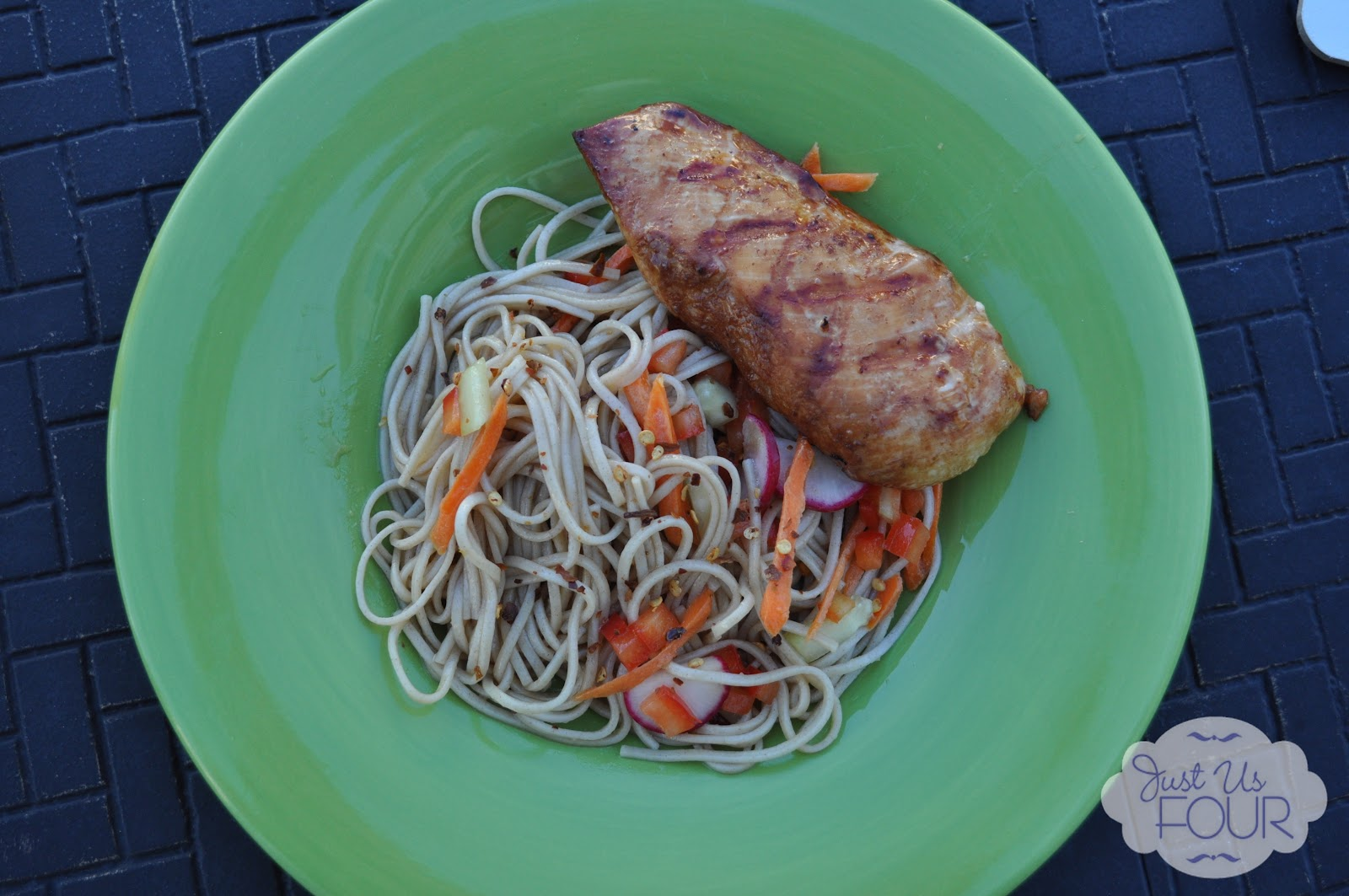 Ginger Soy Chicken with Soba Noodle Salad - Sugar Bee Crafts