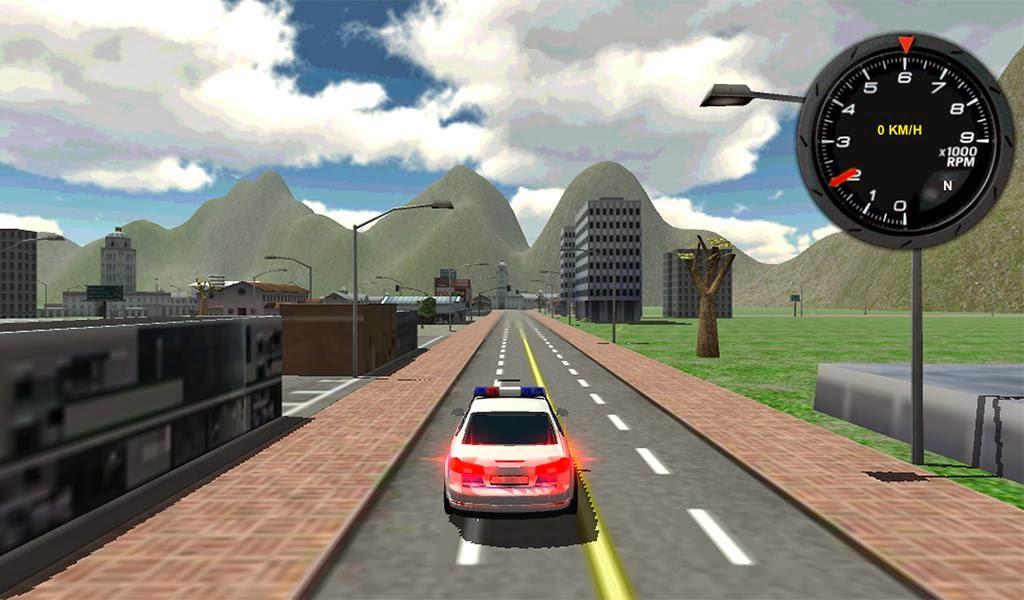 لعبة قيادة سيارة الشرطة Police Car Driver 3D