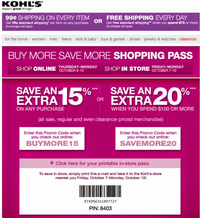 This is an image of Decisive Kohls 10 Off Coupons Printable
