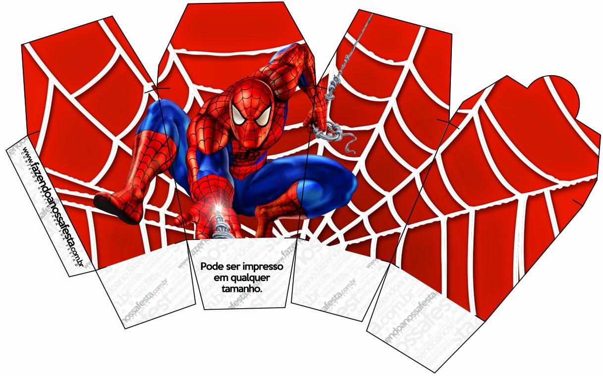 Spiderman Cajas para Imprimir Gratis  Ideas y material gratis