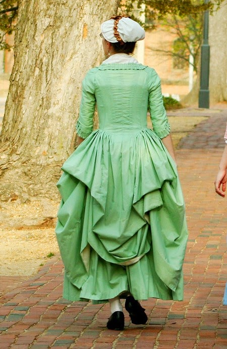 http://www.ebay.com/itm/18th-century-cotton-gown-w-petticoat-robe-a-langlaise-100-hand-sewn-sz-s-/261462957473?pt=US_Reenactment_Theater&hash=item3ce0681da1