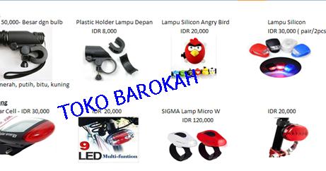Toko Sepeda Barokah Batam: Lampu Accessories