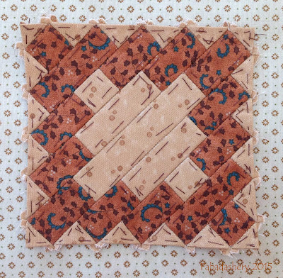 Dear Jane Quilt - Block G-10 Woven Meadow