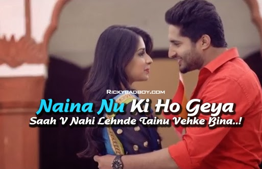 NAINA NU LYRICS - JASSI GILL SONG | Mr & Mrs 420