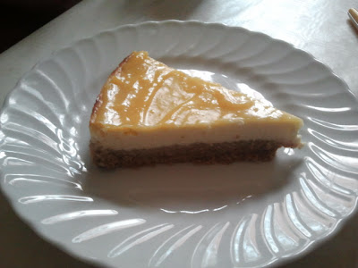Cheesecake con lemon curd