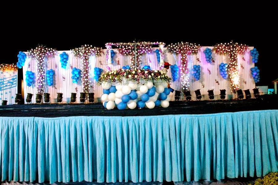 Aicaevents open ground venue decorations for birthday parties for 1st birthday stage decoration