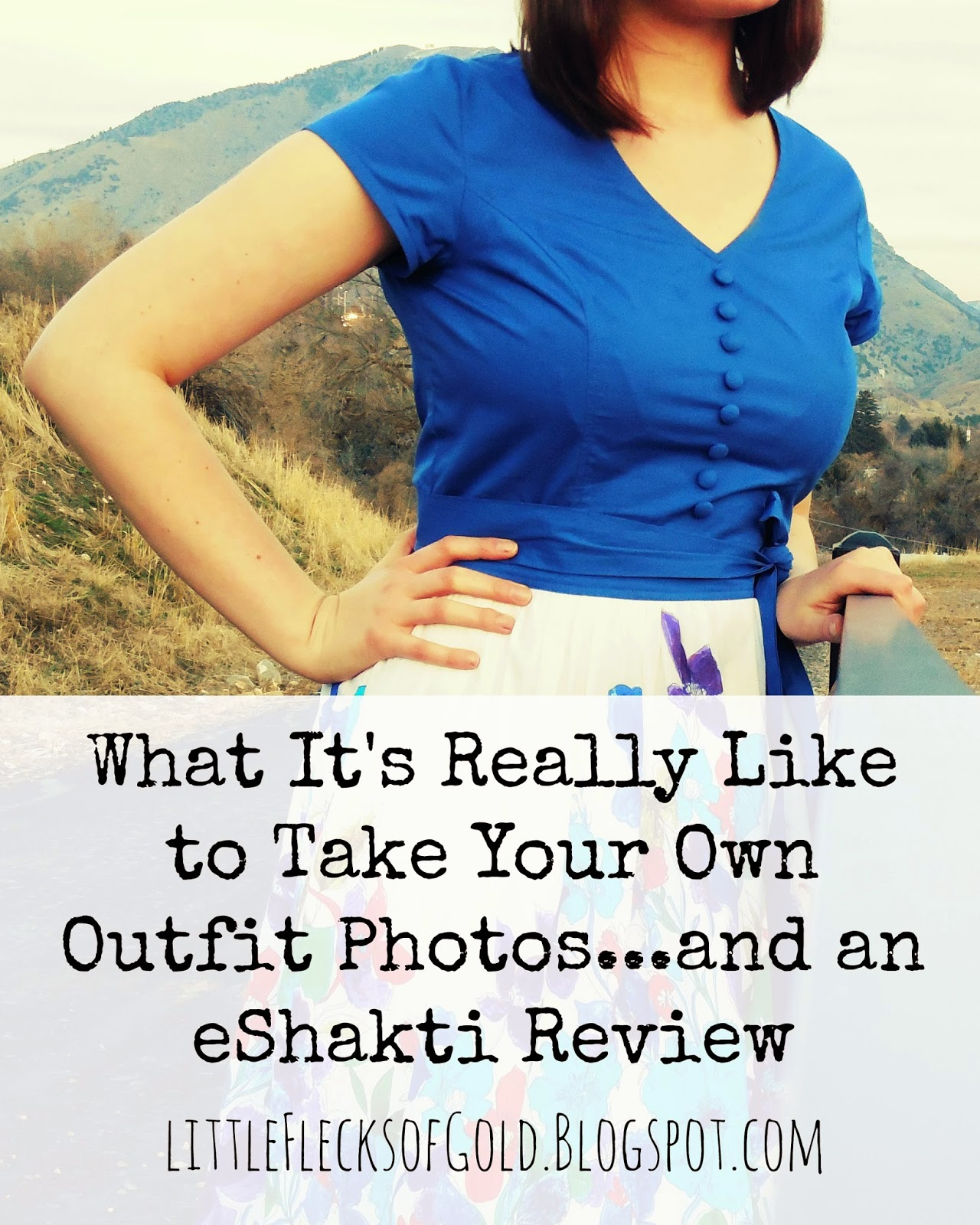 What It's Really Like to Take Your Own Outfit Photos and an eShakti Review