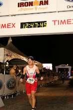 Tracy Butler finishing Ironman Arizona
