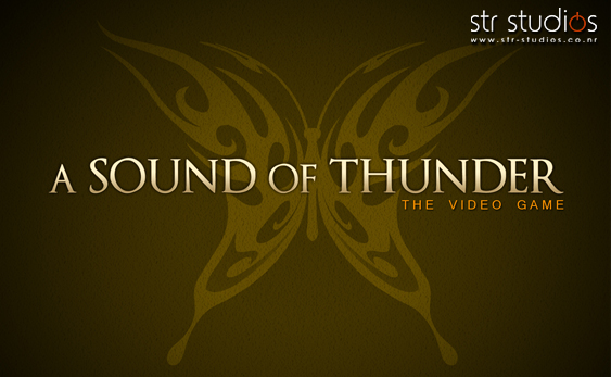 dvd cd case graphic design to accompany a sound of thunder the video