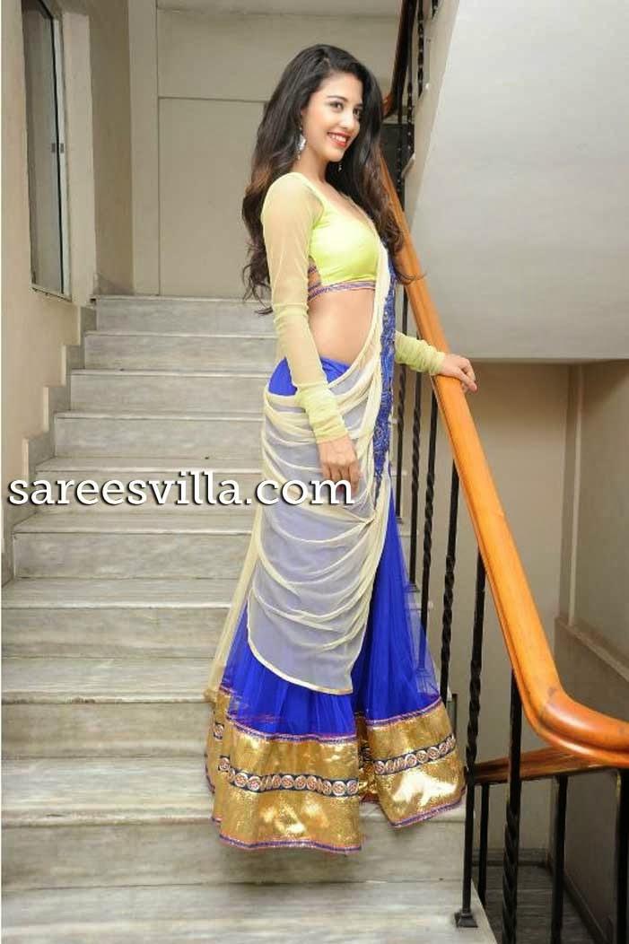 Dhaksha In Designer Half Saree