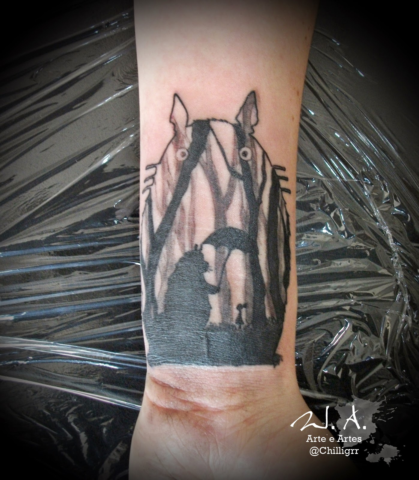 totoro art, painting, totoro watercolor, totoro tattoo