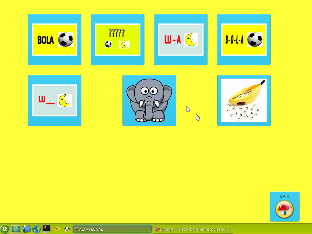 aplicativo de alfabetização