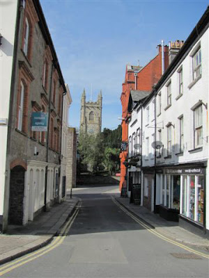 Shops and church at St Austell