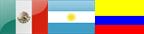 Icono de Banderas Mexicana, Argentina y Colombiana