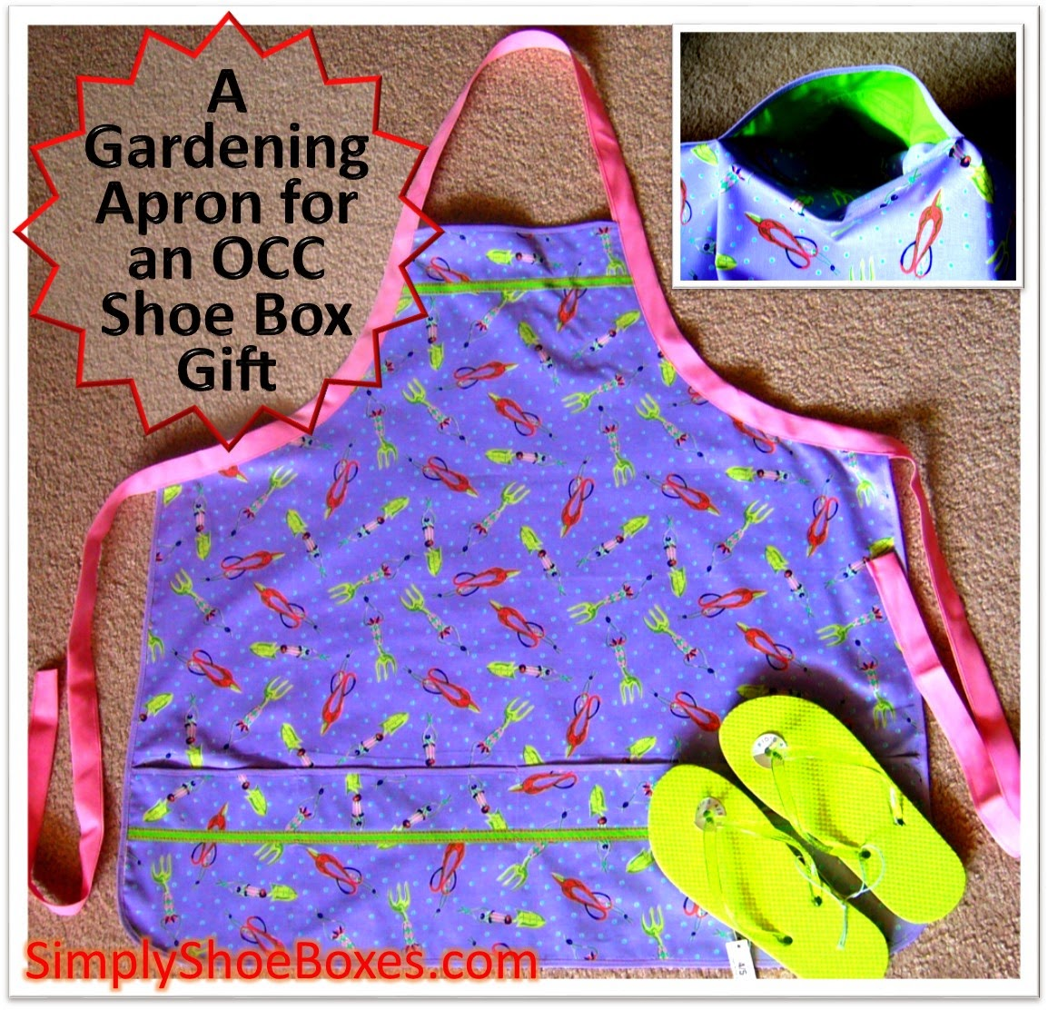 Garden Apron for OCC shoe box