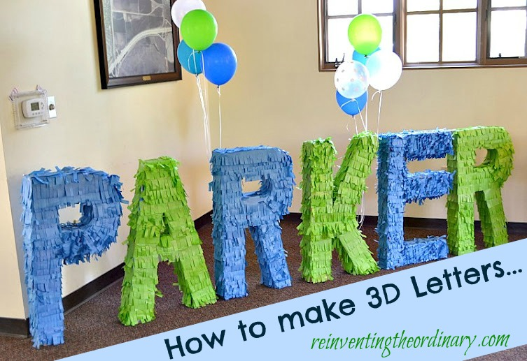 how to make 3d letters for your party tuesday may 22