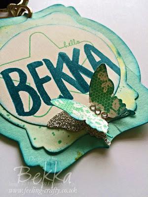Bekka's Name Badge for Stampin' Up! UK Telford Training - includes Sneak Peeks! Get them at www.bekka.stampinup.net