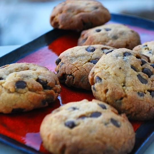 Ciasteczka kajmakowe z czekoladą