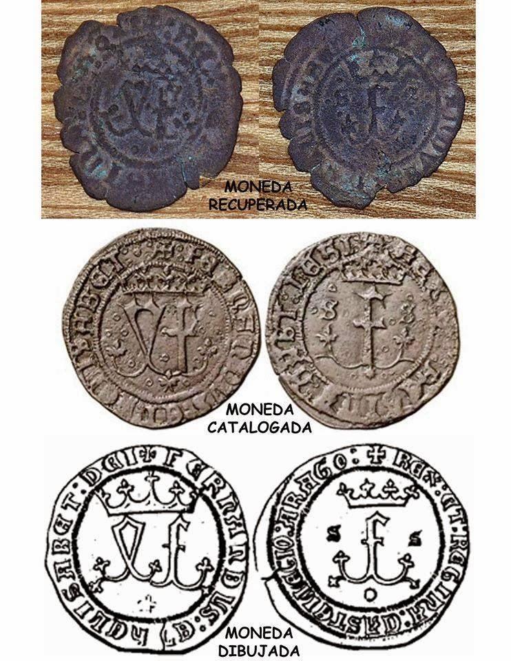 Monedas encontradas en Playa Grande