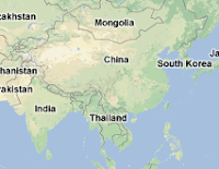 Map of China and India