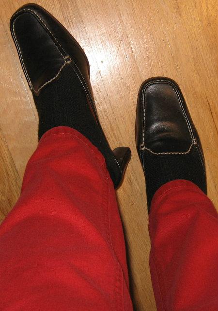 Black Leather Slip On Loafer