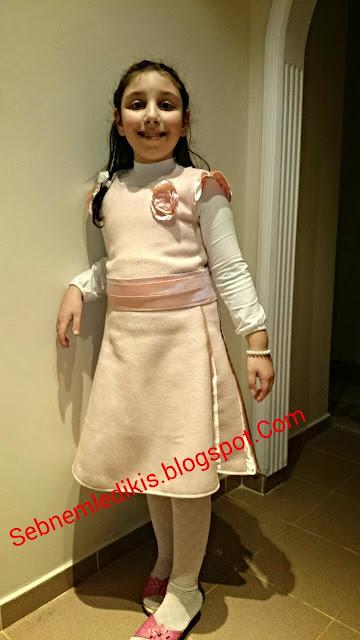 kız çocuk elbise dikimi