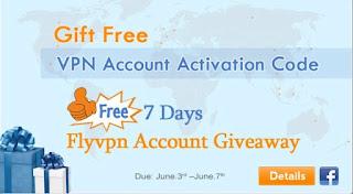 Comment obtenir compte gratuit 7 jours de Flyvpn