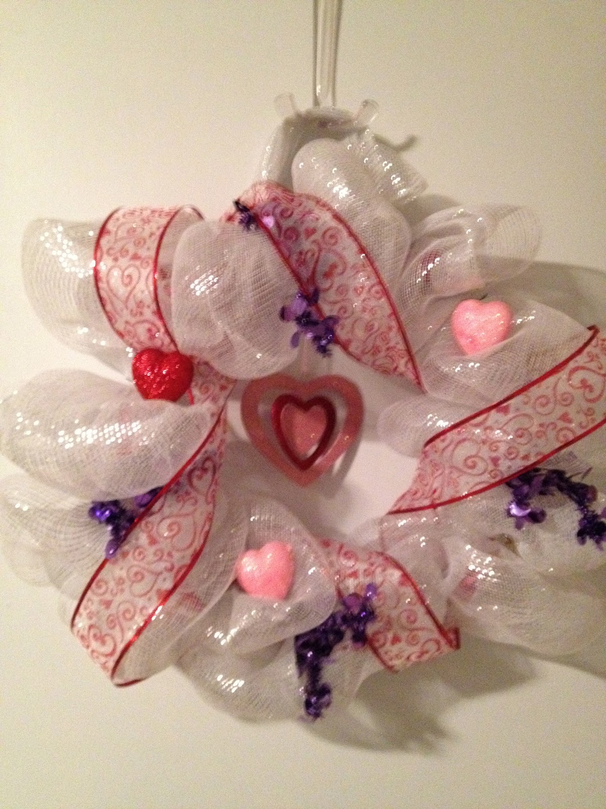Valentine S Day Mesh Wreath Just A Primary Girl