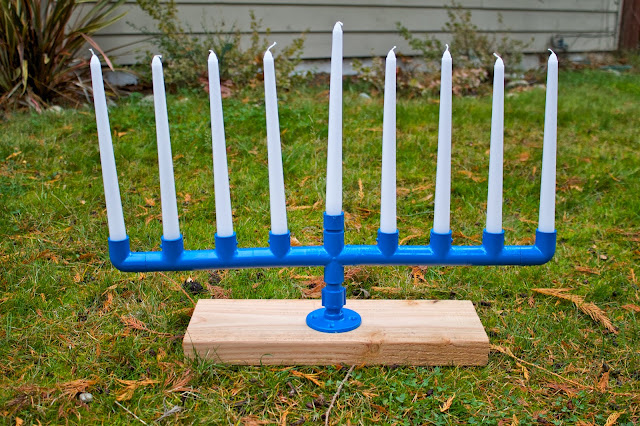 PVC Pipe Menorah
