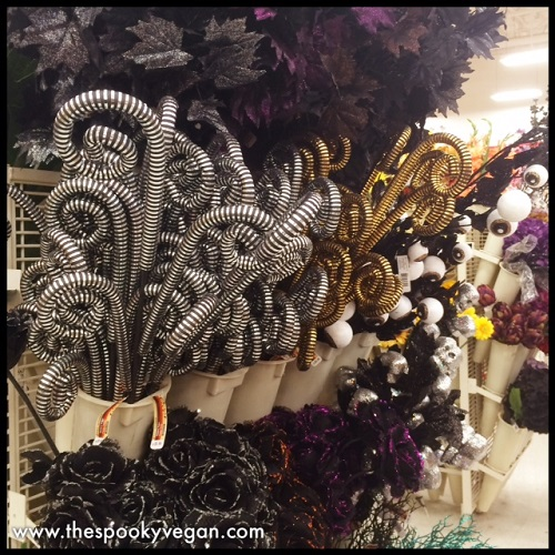 halloween wreaths up in the very back of the store - Michaels Halloween Decorations