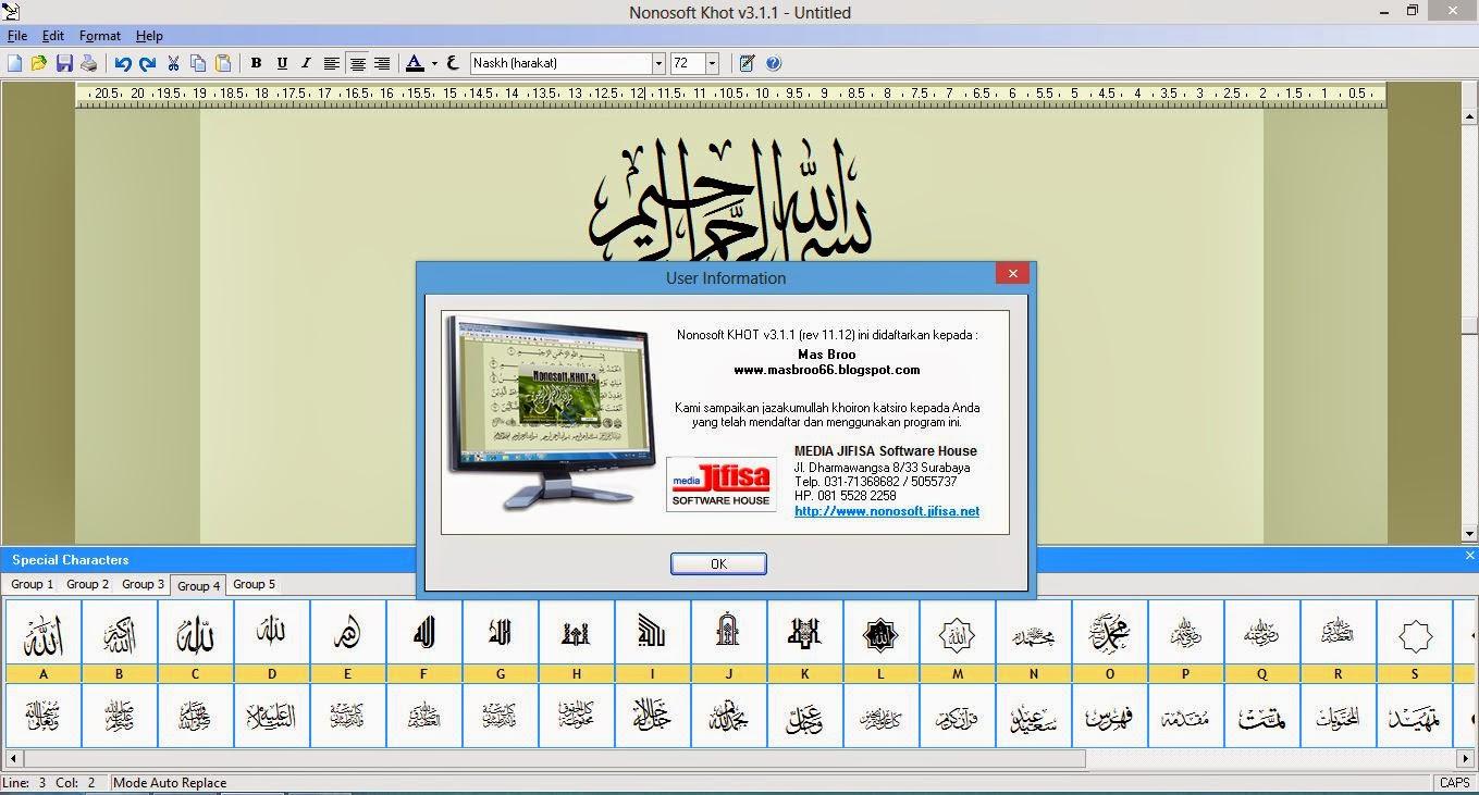 DOC) Cara menulis huruf Arab dengan Nonosoftkhot