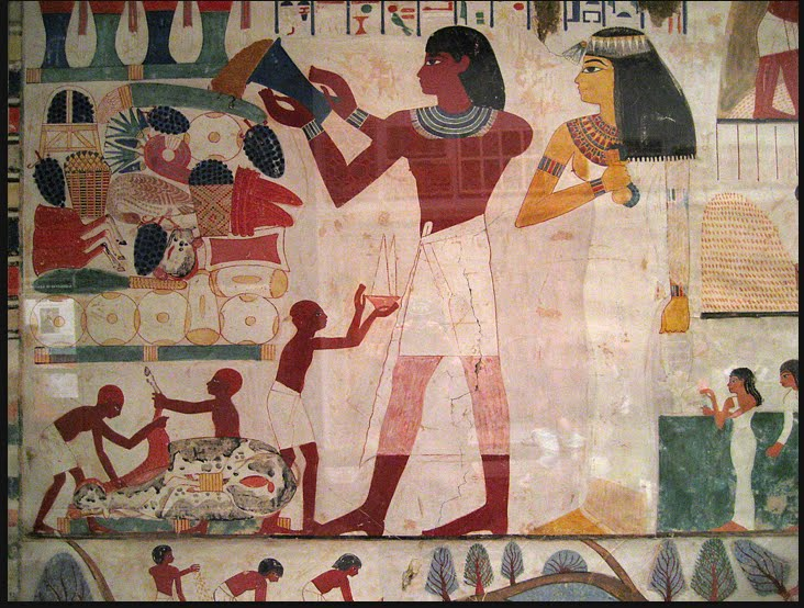 Danielmaidman egyptian space for Egyptian mural painting