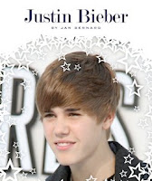 bookcover of JUSTIN BIEBER  by Jan Bernard